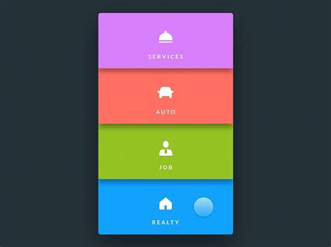 design menu in android menu by oleg frolov dribbble