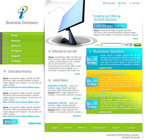 it solution template web solution css template 0387 computers technology
