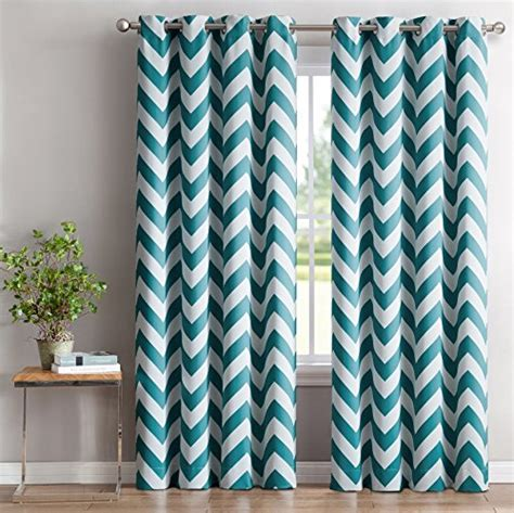 chevron print curtains hlc me chevron print thermal insulated room darkening