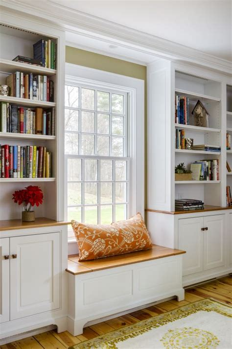window seat bookshelf groton ma renovation with built in window seat and