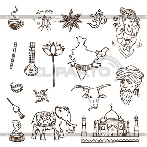 indian doodle landmarks stock photos and vektor eps clipart cliparto