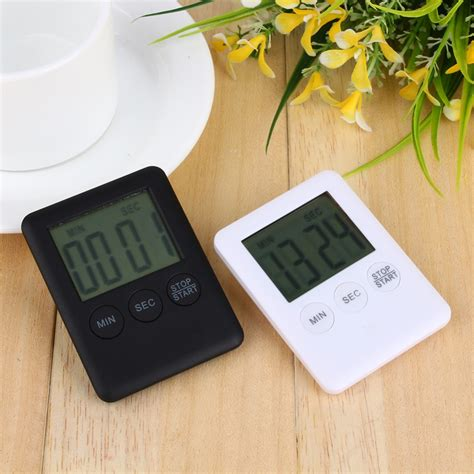 Kitchen Timer With Alarm by 2 Colors Square Large Lcd Digital Kitchen Timer Cooking