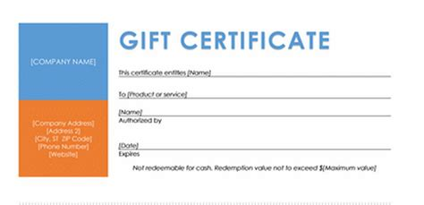best photos of certificate gift voucher template free