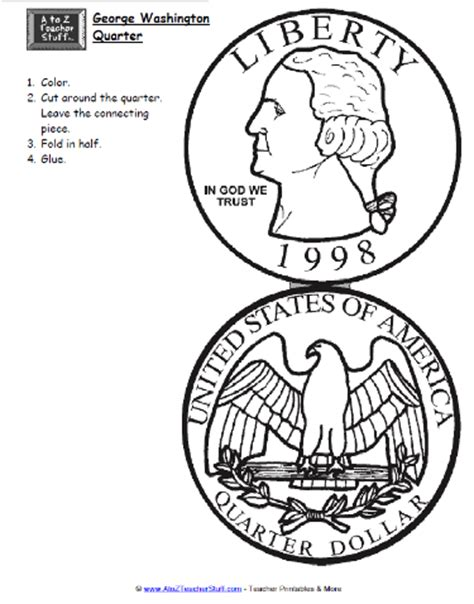 george washington coloring page for kindergarten free worksheets 187 quarter worksheets free math