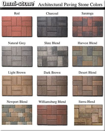top 28 paver colors and styles paver styles and paver
