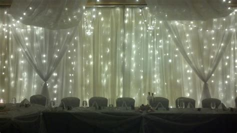 wall draping fabric light wall with sheer swags warm white led twinkle lights