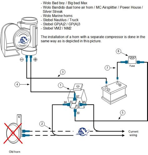 wiring diagram fused 12v air horn 33 wiring diagram