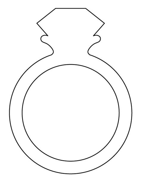 wedding ring templates free ring pattern use the printable outline for crafts