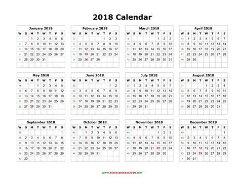 full year calendar 2018 printable delli beriberi co