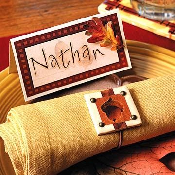 Indian And Pilgrim Photo Place Cards And Napkin Ring Template by Thanksgiving Place Cards And Napkin Rings