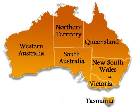 states in australia map moving to australia it s big where are you going to live
