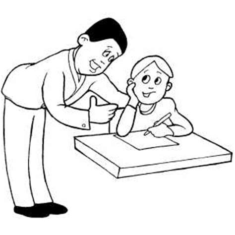 teacher and student coloring sheet