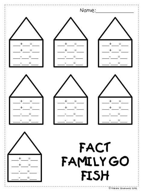 first grade information families of fact frogs in first fact family go fish