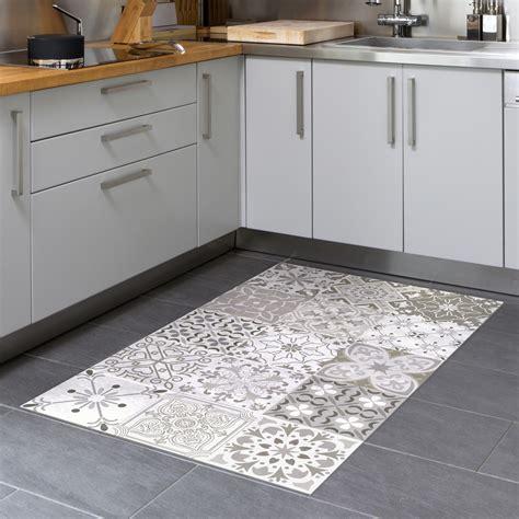 Tapis Carrelage tapis vinyle carrelages nuances de gris rom 233 o 60 x 100