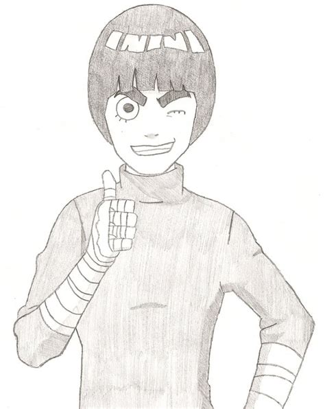 rock lee drawing thumbs   ffsgunslingervincent