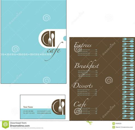 Corporate Menu Card Template by Template Designs Of Menu And Business Card For Cof Royalty