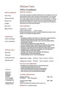 office coordinator resume exle sle administration areas of expertise jobs work employer 46 professional marketing resume free premium templates