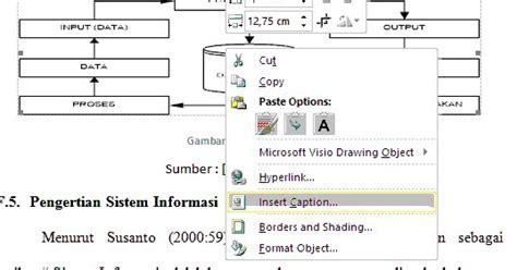 membuat daftar gambar otomatis word 2013 membuat daftar gambar tabel secara otomatis pada ms word