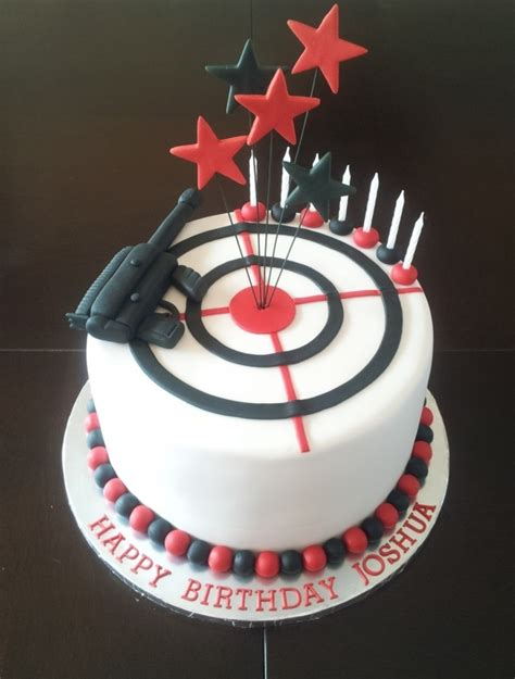 laser tag themed boys birthday cake cakecentralcom