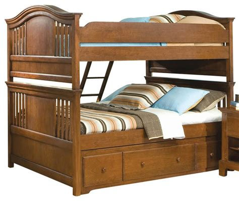 Bedroom Furniture Bradford American Woodcrafters Bradford Bunk Bed With Underbed Storage Rich Cherr Furniture By
