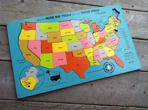 educational maps of the united states vintage 1970s 1960s playskool educational united