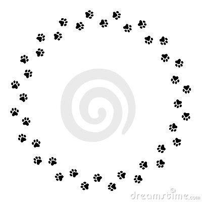 paw print trail clip art (59+)