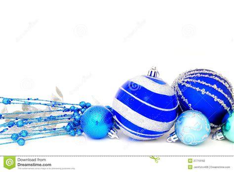 blue christmas baubles stock image cartoondealer com