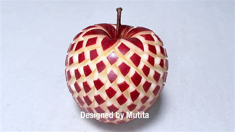 design apple fruit quick easy simple art in fruit and vegetable carving
