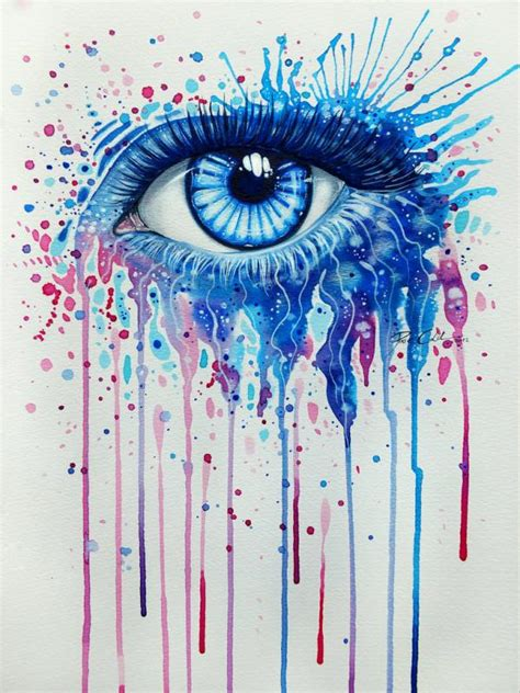 watercolor and acrylic paintings of eyes by svenja j 246 dicke