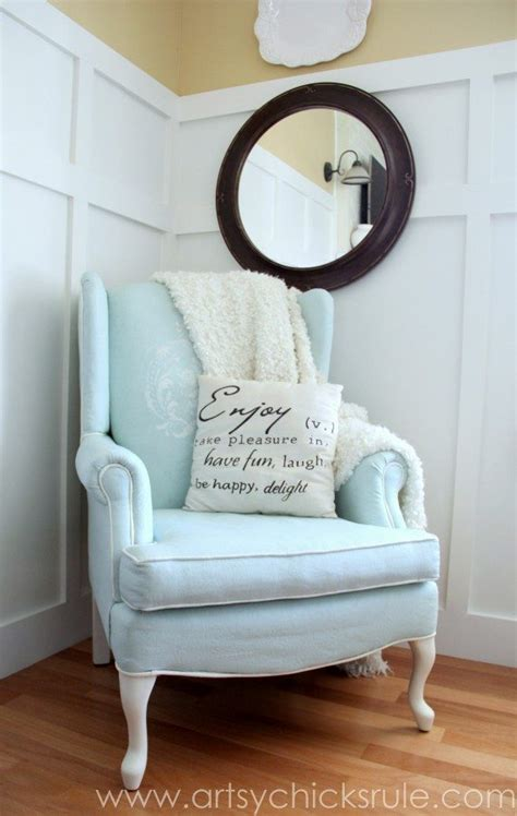 diy chalk paint chair 30 painted furniture ideas in blue more refresh restyle
