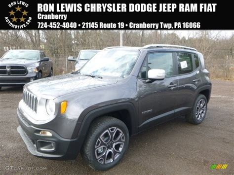 jeep granite crystal metallic 2017 granite crystal metallic jeep renegade limited 4x4