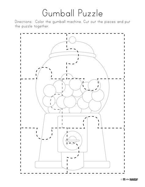 printable toddler puzzles gumball puzzle free printable