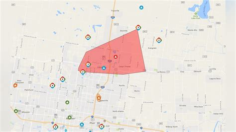 aep power outage map aep power outage hits northwest edinburg kgbt