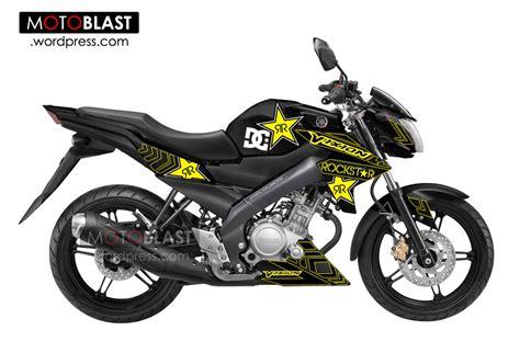 modif new vixion hitam dengan striping dc rockstar motoblast