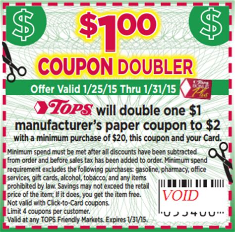tops grocery coupons printable wny deals and to dos tops markets printable dollar