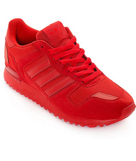 adidas red shoes adidas zx 700 mono red shoes zumiez
