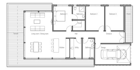 Modern Floor Plans For New Homes Small House Plan Ch181 In Modern Contemporary Architecture