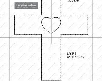 String Art Cross Etsy Cross String Template