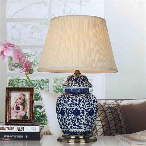 art chinese porcelain ceramic table lamp bedroom living room wedding table lamp jingdezhen blue