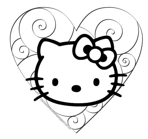 kitten valentine coloring page hello kitty coloring pages wallpapers