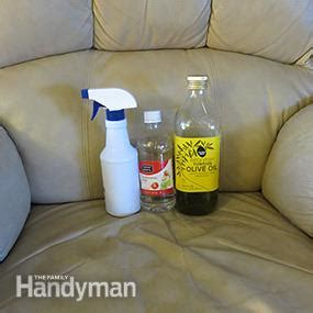 How To Clean Leather Sofa Naturally How To Clean Leather Furniture Stains With Products Family Handyman