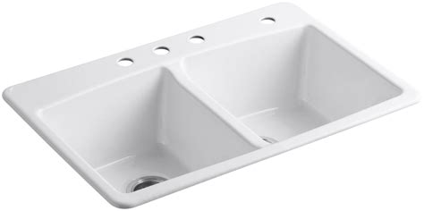 kohler brookfield kitchen sink kohler k 5846 4 0 white brookfield 33 quot basin top