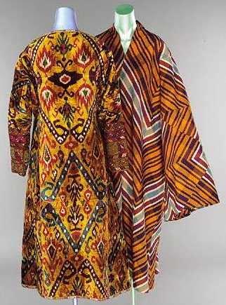 uzbek ikat childs coat central asia late 19th century great colors uzbek ikat rugs carpets