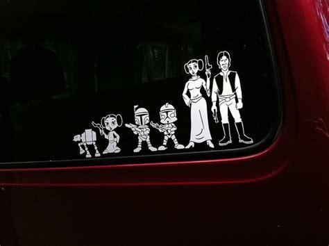 Auto Sticker Star Wars by Star Wars Family Car Stickers Star Wars Family Stickers
