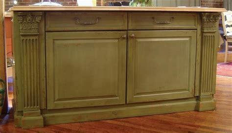 7 ft wide country kitchen island w 2 drawers 2