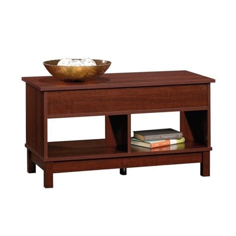 sauder kendall lift top coffee table in select cherry