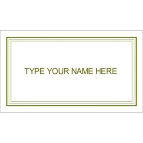 avery graduation name card templates templates green border graduation name card 10 per