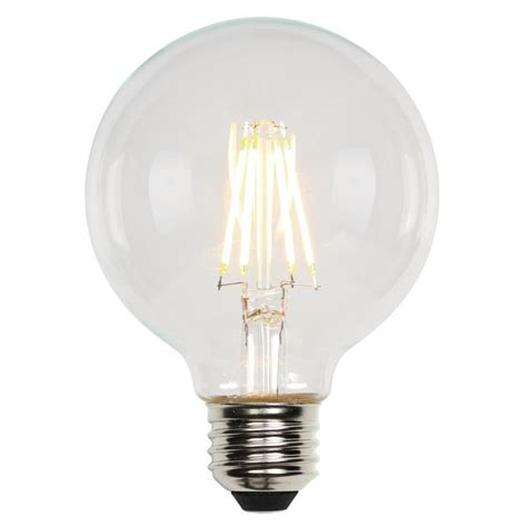 Led Light Bulb Equivalent Westinghouse 60w Equivalent Soft White G25 Dimmable Filament Led Light Bulb 3317300 The Home Depot