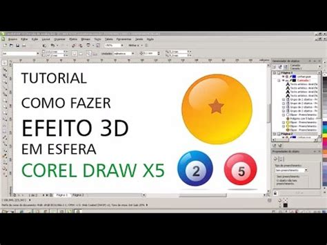 tutorial website x5 youtube tutorial corel draw x5 efeito 3d em esfera youtube