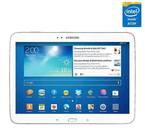 samsung galaxy tab 3 wifi 16 go p5210 tablette tactile en promo samsung galaxy tablet